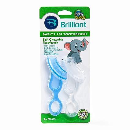 Baby Buddy - Cepillo de dientes para bebé Blue/Clear Talla:2 Count