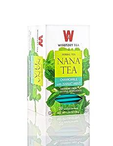 Wissotzky Tea, Tea Chamomile With Nana Mint, 20 Count sleeping pills or otc sleep aids - 81zTR7nuDGL - Sleeping pills or OTC sleep aids – risks and side effects