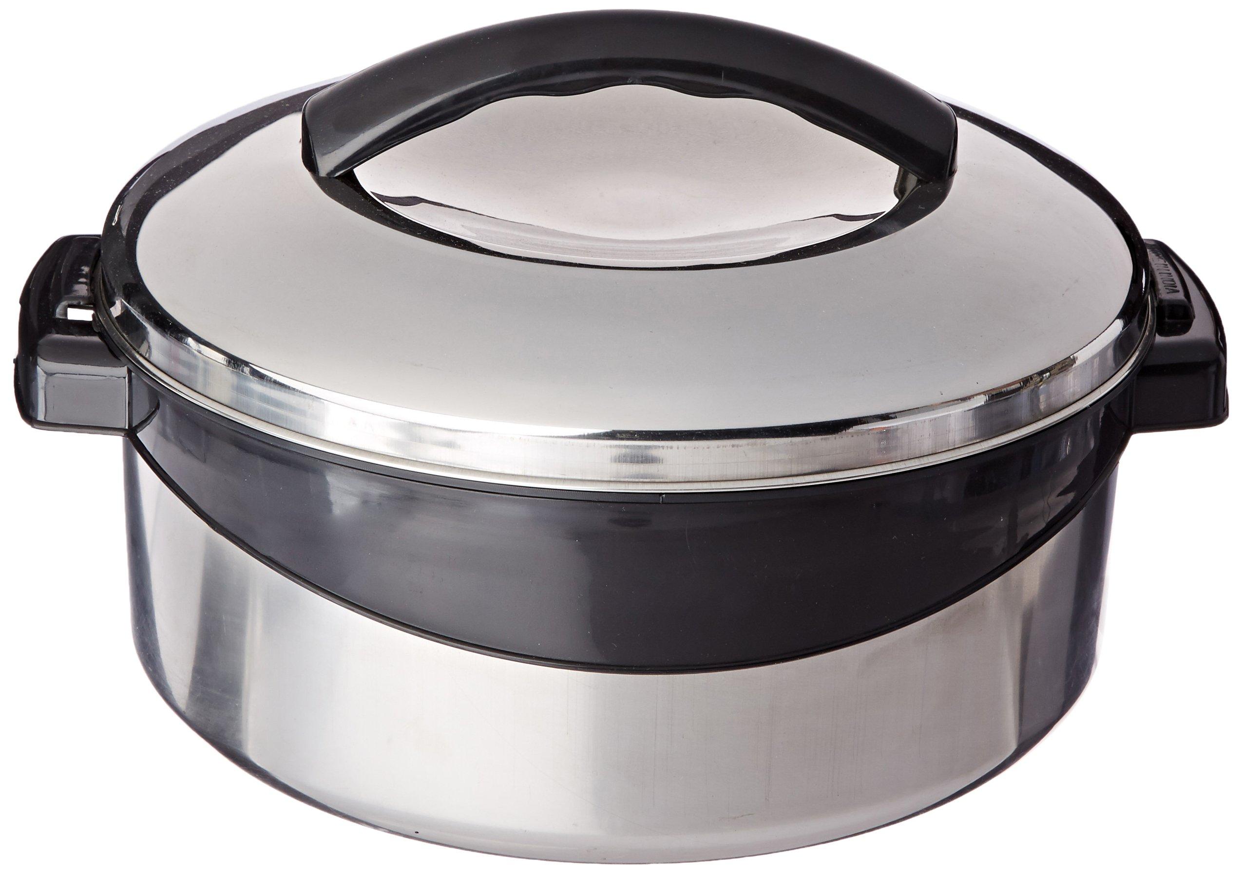 Milton Regent Hot Pot Insulated Casserole Keep Warm/Cold Upto 4-6 Hours, Stainless Steel, 2.5 Liter