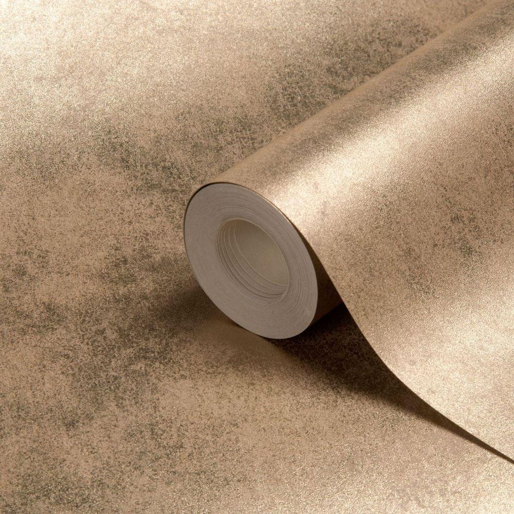 Foil Texture Gold Wallpaper Metallic Plain Shiny Luxury