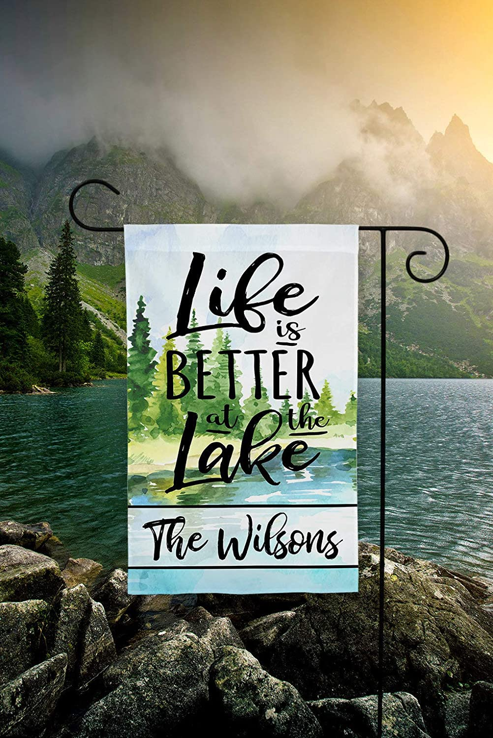 Life is Better at The Lake Flag, Welcome to The Lake Flag, Lake House Flag, Lake Flag, Personalized Lake Sign Garden Flags 12 x 18 inch
