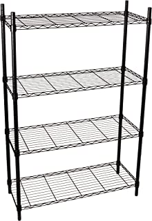 Black Powder Coat Honey-Can-Do SHF-06831 5-Tier Black Storage Shelves 18-Inches x 36-Inches x 72-Inches
