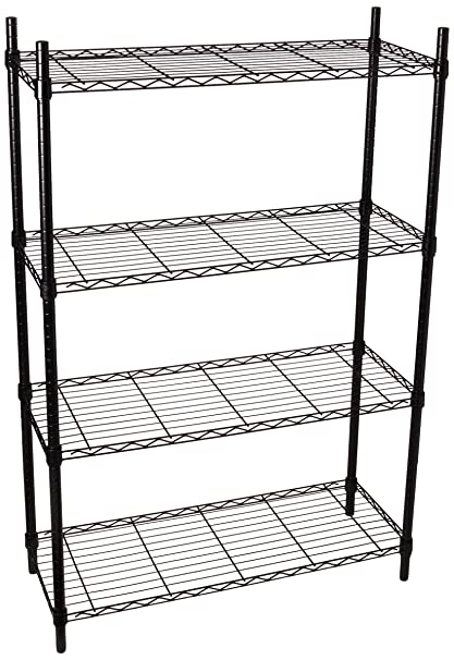 Genial Amazon.com: Honey Can Do SHF 01908 Adjustable Storage Shelving Unit,  250 Pounds Per Shelf, Black, 4 Tier, 36Lx14Wx54H: Home U0026 Kitchen