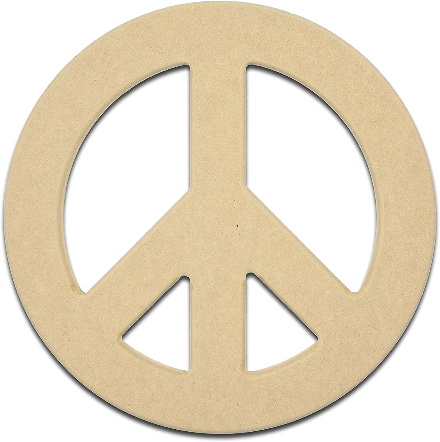 Gocutouts 6 Wooden Peace Sign Package of 12 Cutouts Shapes Wooden Peace Sign Cutouts 6 Package of 12