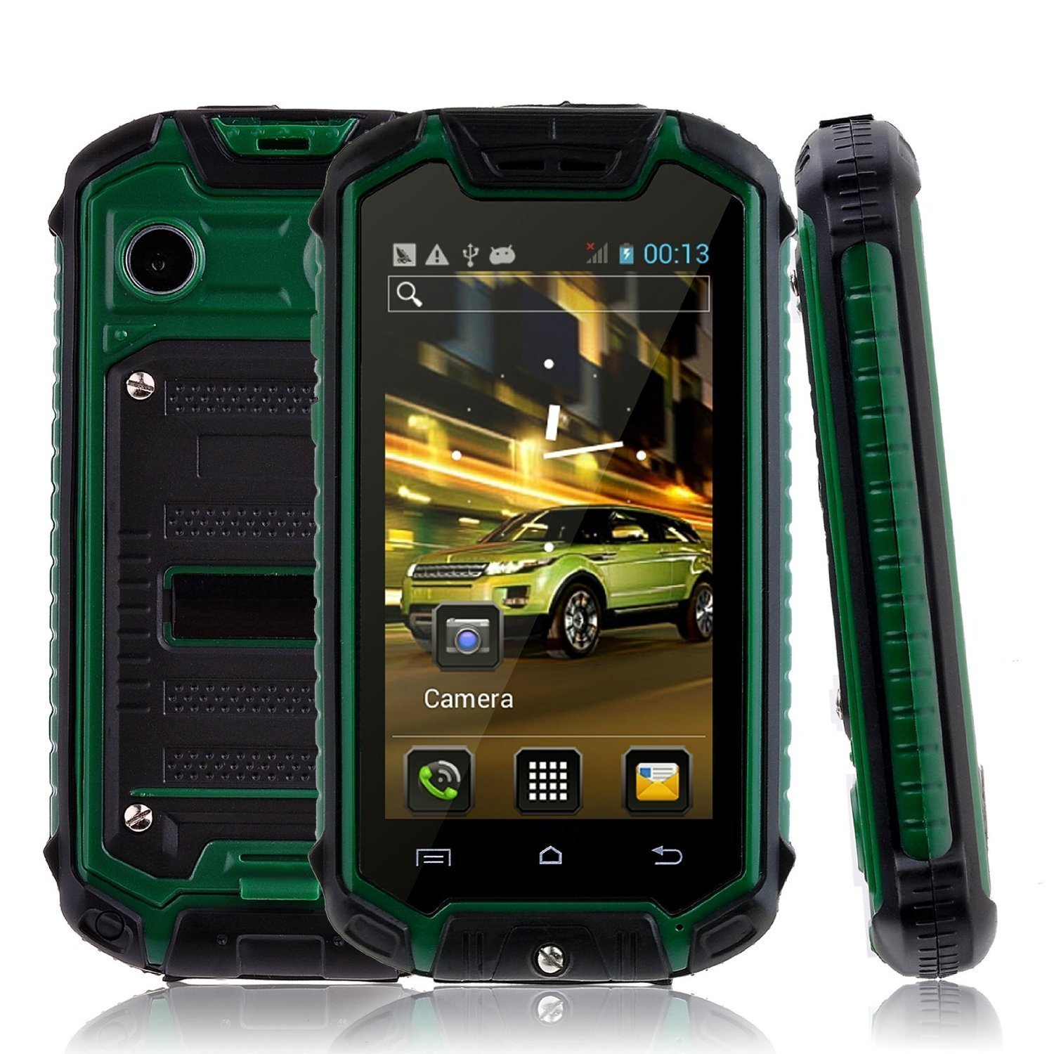 Sudroid 3G 2.45 Inches Z18 Android 4.4 Water and Dust-proof Smartphone Unlocked (Green)