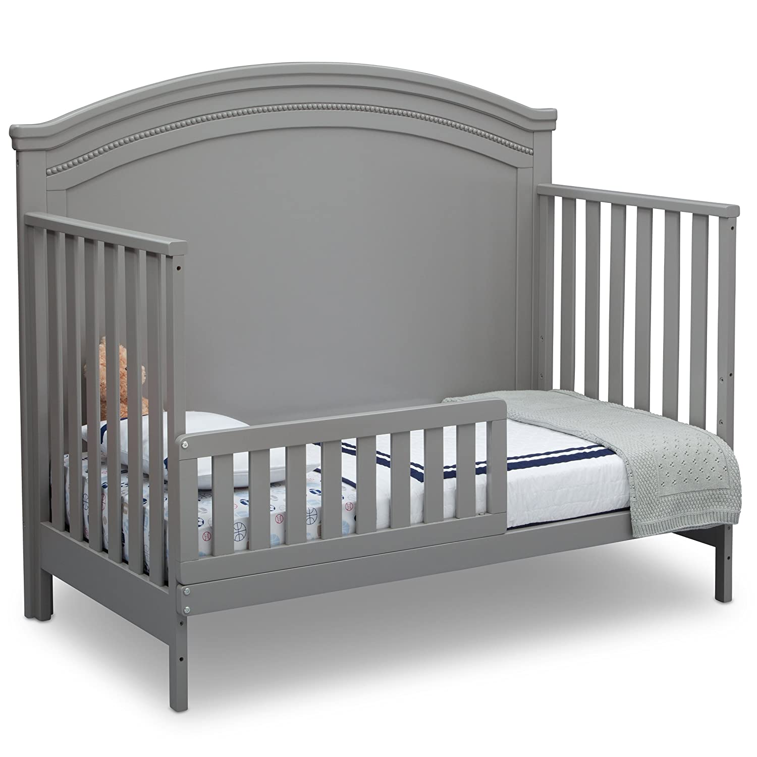 Amazon com simmons kids slumbertime emma convertible baby crib n more grey baby