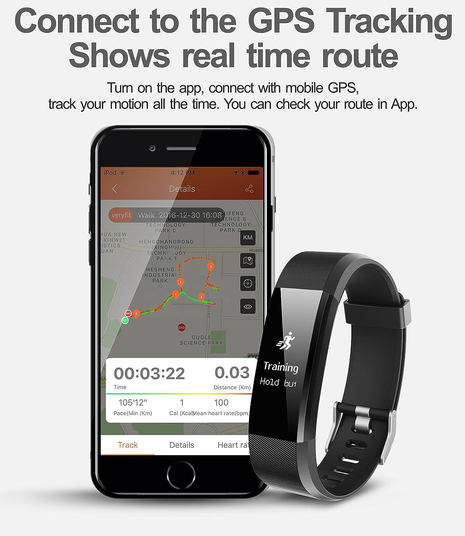 266e1a1e6f6b Vigorun Fitness Tracker YG3 Plus Activity Tracker Real-time Heart Rate  Monitoring Multi-Sport Mode Call Notification Pedometer Calories Sleep  Monitoring ...