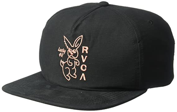 48d27808 Amazon.com: RVCA Men's Lucky4u Snapback Hat, Black EA: Clothing