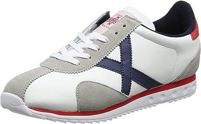 Munich Sapporo 01, Zapatillas de Deporte para Hombre, Blanco (Blanco/Azul 001), 44 EU: Amazon.es: Zapatos y complementos