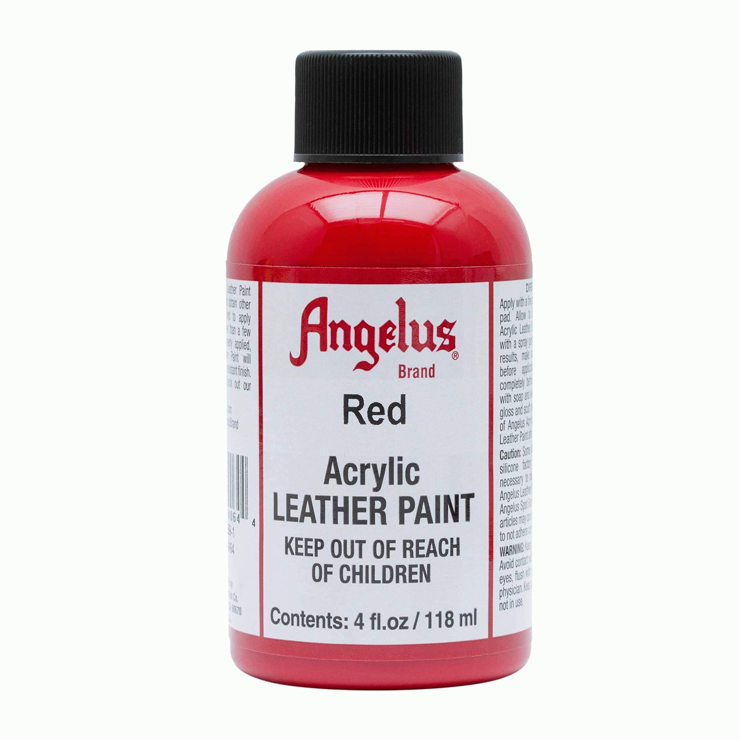 Angelus Pintura acrílica para cuero rojo 118ml