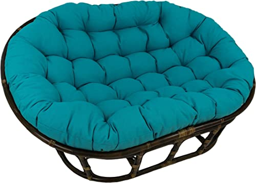 Blazing Needles Solid Outdoor Spun Polyester Double Papasan Cushion