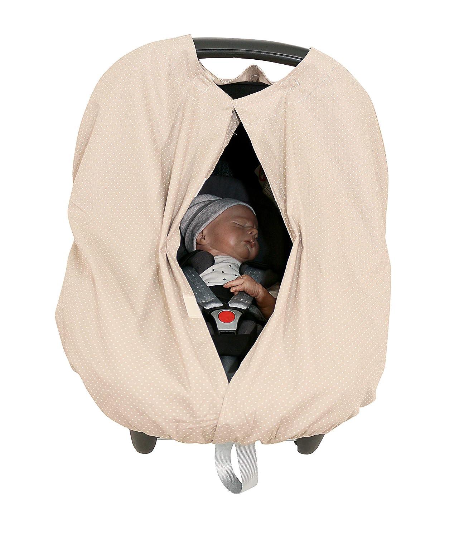 Nursing Cover Taupe ULLENBOOM /® WIGGYBOO Stillschutz Stilltuch auch als Kinderwagenabdeckung oder Kindersitz /Überzug verwendbar, 100/% Baumwolle