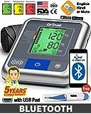 Dr Trust USA BP A-One Max Connect Bluetooth Dual Talking Digital Blood Pressure Testing Monitor Machine (Grey)