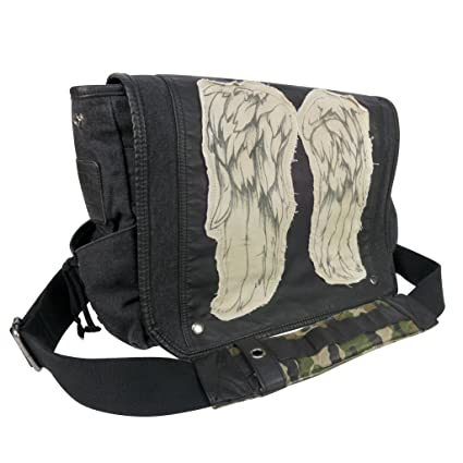 186ad8696f Image Unavailable. Image not available for. Color  The Walking Dead Daryl  Dixon Wings Messenger Bag