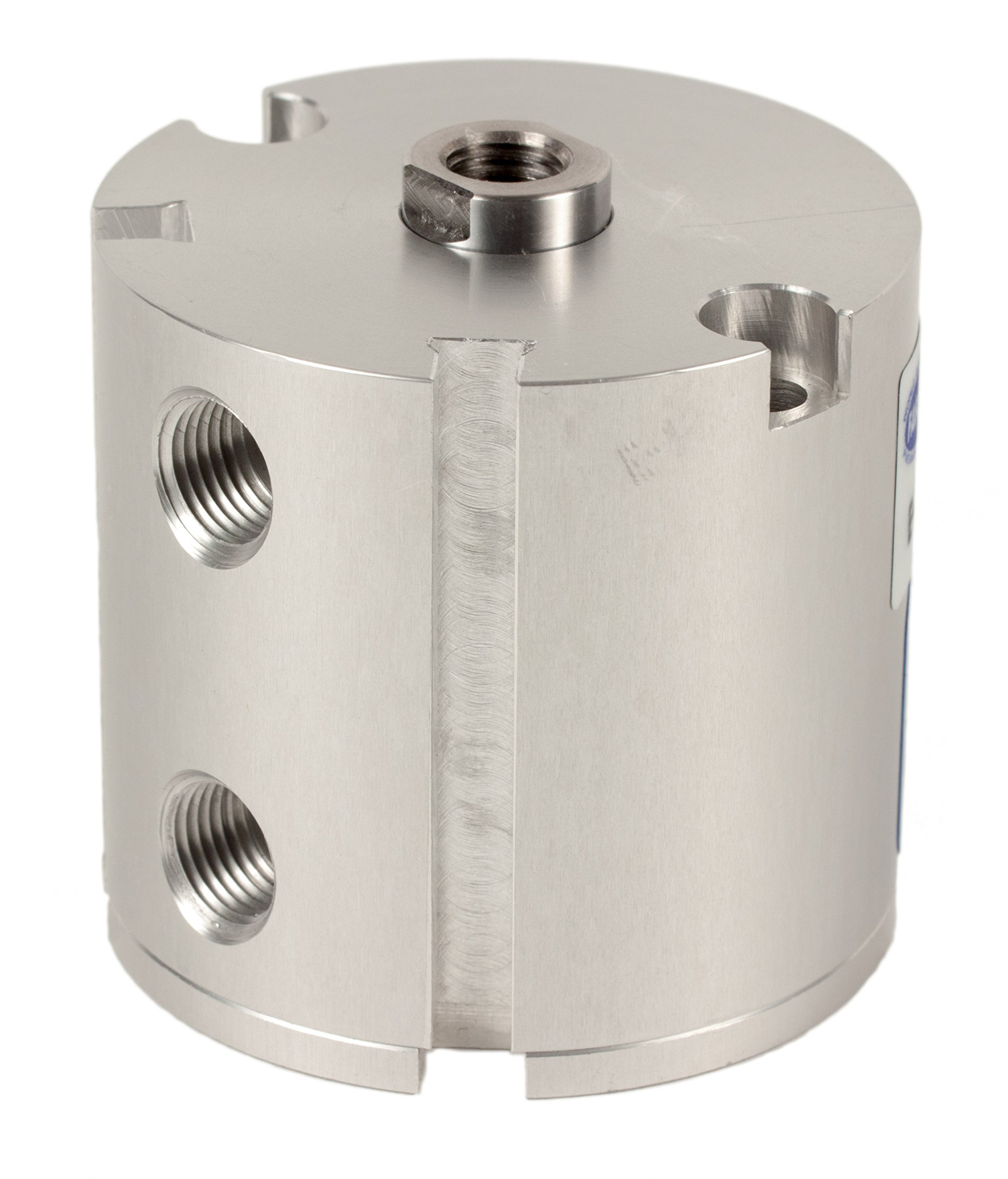 Fabco-Air E-121-X-E Original Pancake Cylinder, Double Acting, Maximum Pressure of 250 PSI, Switch Ready with Magnet, 1-1/8'' Bore Diameter x 1'' Stroke