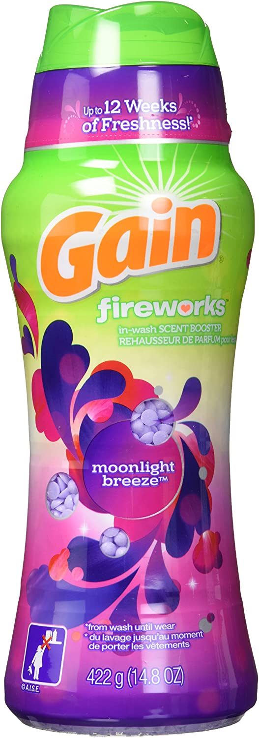 Gain Fireworks in-Wash Scent Booster Beads, Moonlight Breeze, 14.8 oz