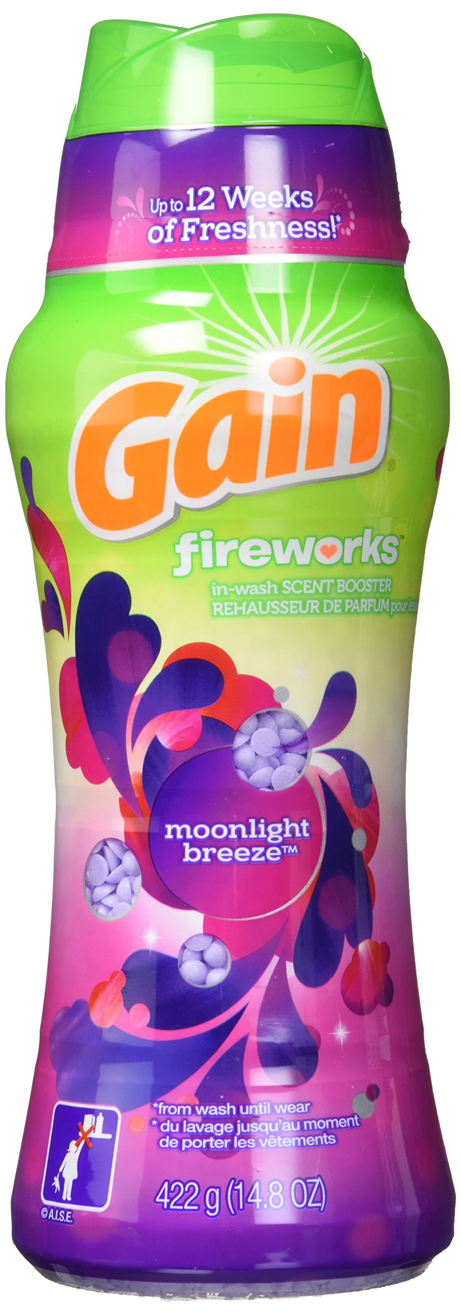 Gain Fireworks In-Wash Scent Booster Beads, Moonlight Breeze, 14.8 Ounce