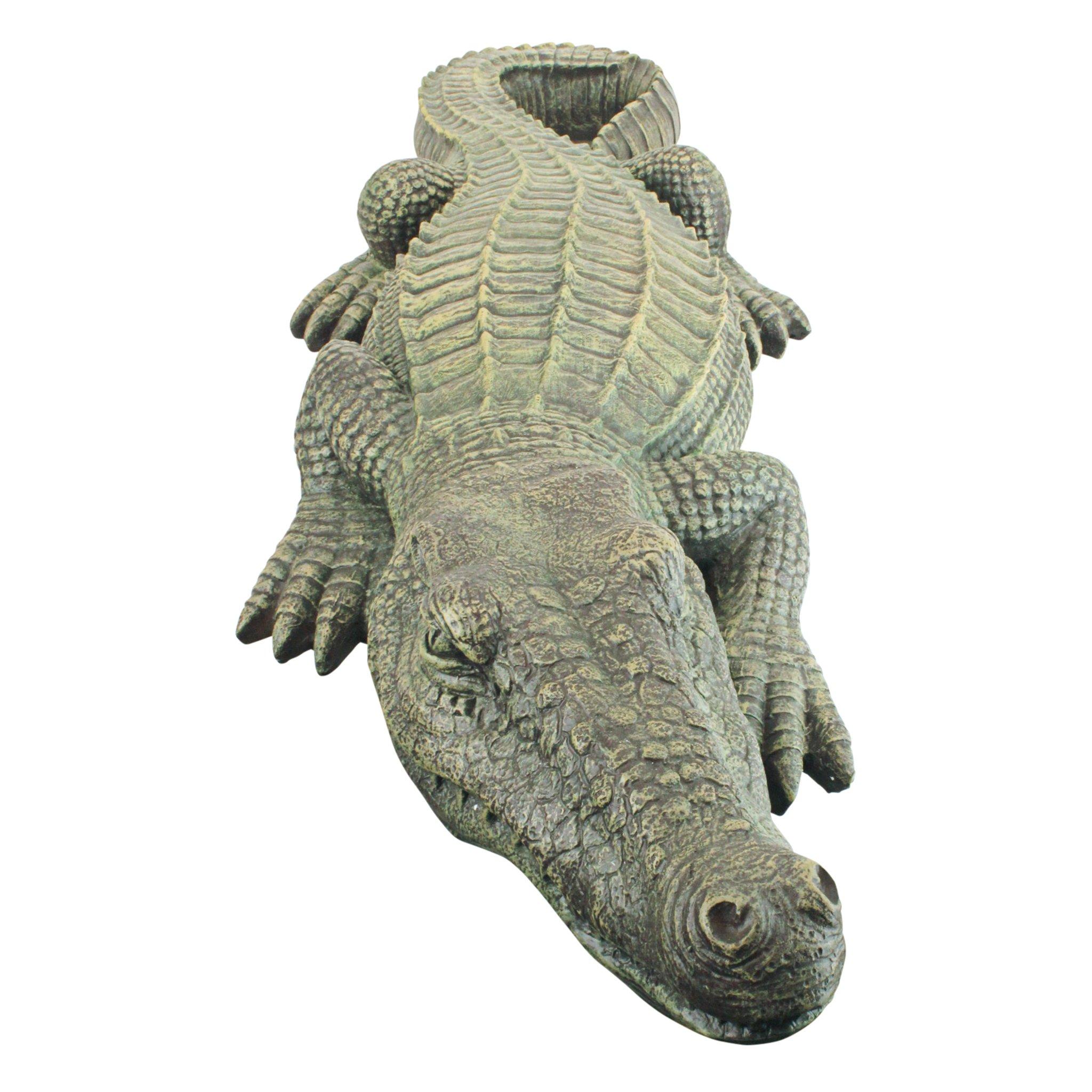 Design Toscano The Swamp Beast Lawn Alligator Crocodile Garden Sculpture, 37 Inch, Polyresin, Full Color by Design Toscano (Image #5)