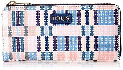 Tous Tartan Bears - Cartera para Mujer, Azul/Rosa, 19 x 10 x ...