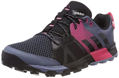 adidas Kanadia 8.1 Trail Womens Running Trainer Shoe Black/Grey/Pink - US 5.5