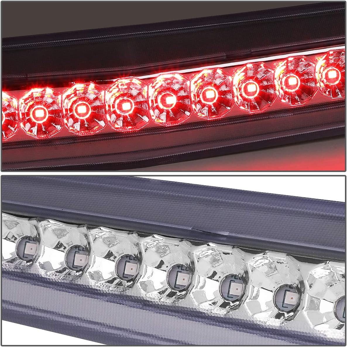 DNA MOTORING Chrome 3BL-CDTS06-LED-CH Trunk Mount LED Third 3rd Tail Brake Light Stop Lamp for 06-11 Cadillac DTS