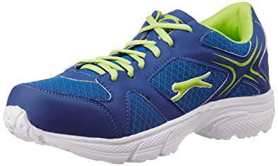 d60afa80db Image Unavailable. Image not available for. Colour: Slazenger Men's Duece  Royal Blue, Lime Green and White Running Shoes ...