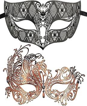 Coddsmz 2 Pack Set Máscaras Masquerade Ball Halloween Disfraces ...
