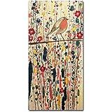"""Je Ne Suis Pas Qu'un Oiseau by Sylvie Demers Wall Hanging, 12"""" x 24"""" Canvas Wall Art"""
