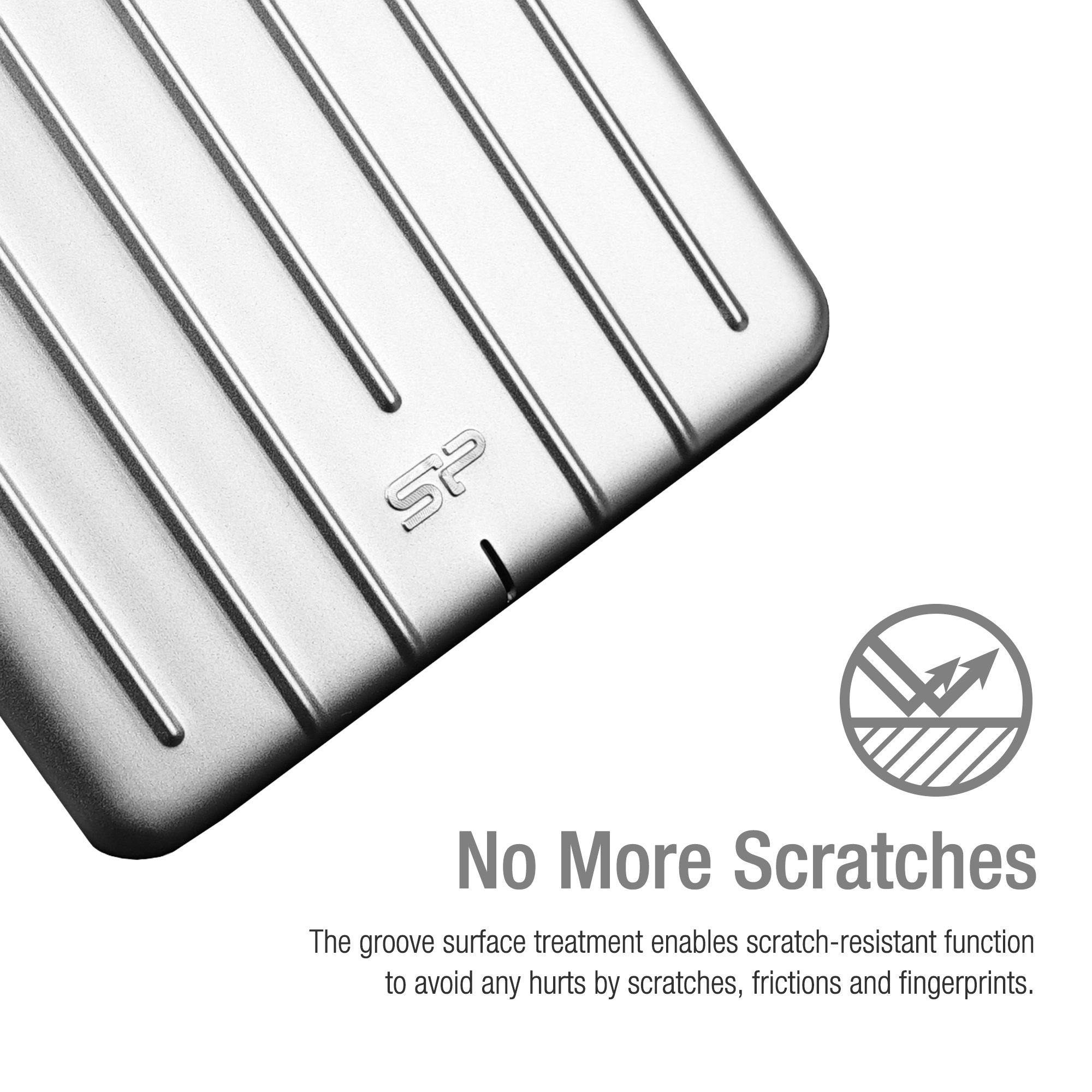 Silicon Power SU010TBPHDA75S3SAE 1TB Ultra Slim Rugged Armor A75 Shockproof USB 3.0 (USB 3.1 Gen 1) 2.5'' Portable External Hard Drive, Silver by Silicon Power (Image #3)