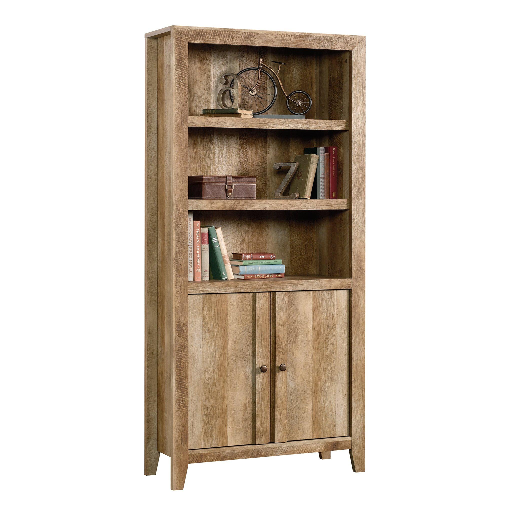 Sauder 420409 Dakota Pass Library with Doors, L: 33.82'' x W: 12.52'' x H: 71.10'', Craftsman Oak Finish by Sauder (Image #2)