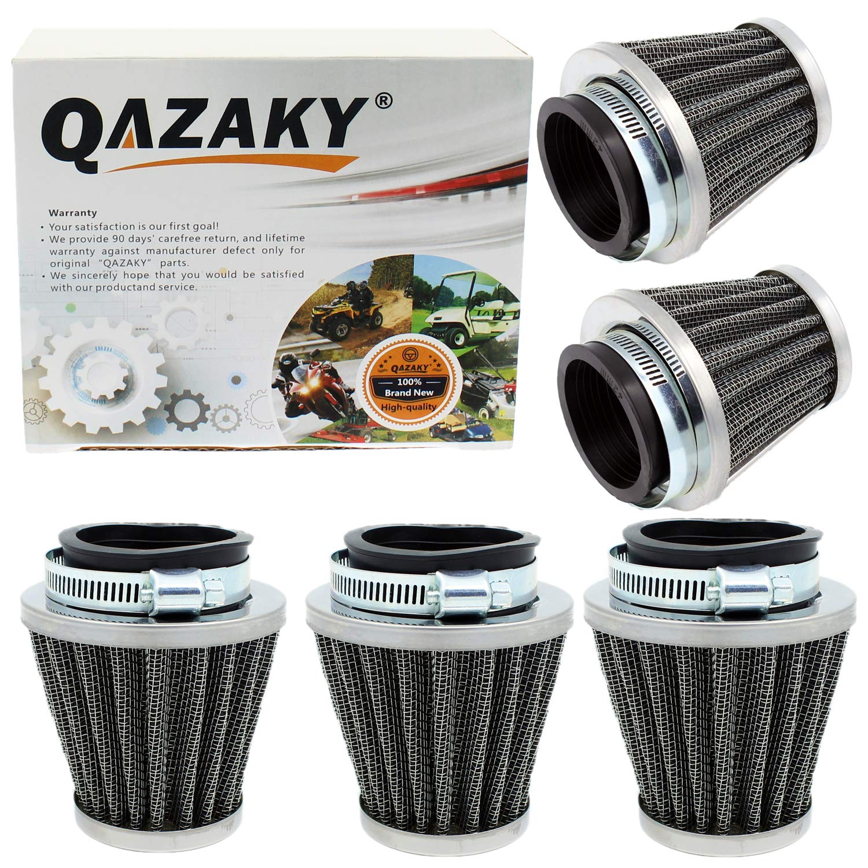 QAZAKY Universal 42mm 1.65 Air Filter Cleaner Replacement for 125cc 150cc 200cc 250cc GY6 Motorcycle ATV Scooter Quad Go Kart Moped Pit Dirt Racing Bike CB CG Kawasaki Yamaha PZ24 PZ30 41mm 43mm