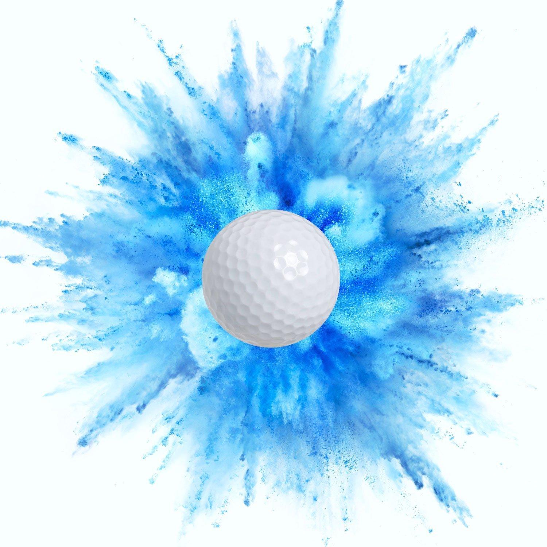 Exploding Trick Golf Balls + Gender Reveal Party Gag Gift for Golfers, Blue & Pink Exploding Golf Balls (2 Blue) by Tricky Golf Balls