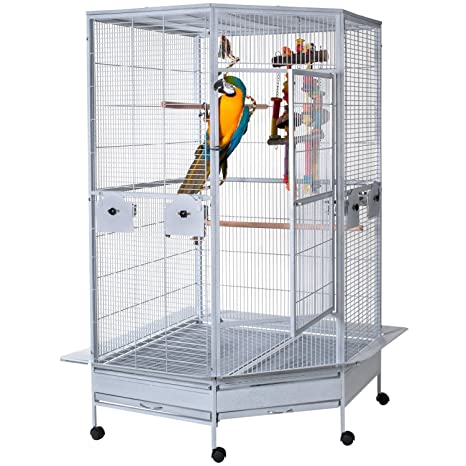 WorldStores Raleigh Grande cage à oiseaux - Coin Design - 2 ...