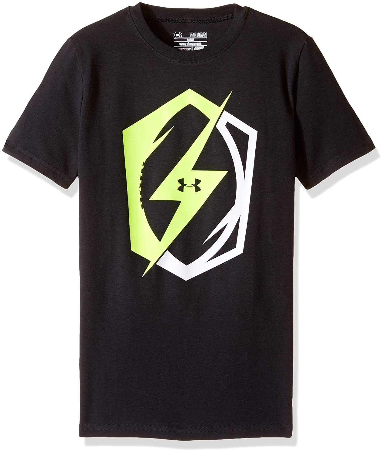 Under Armour Boys ' Pride of Football Tシャツ Youth X-Small ブラック B01FXRBQPW