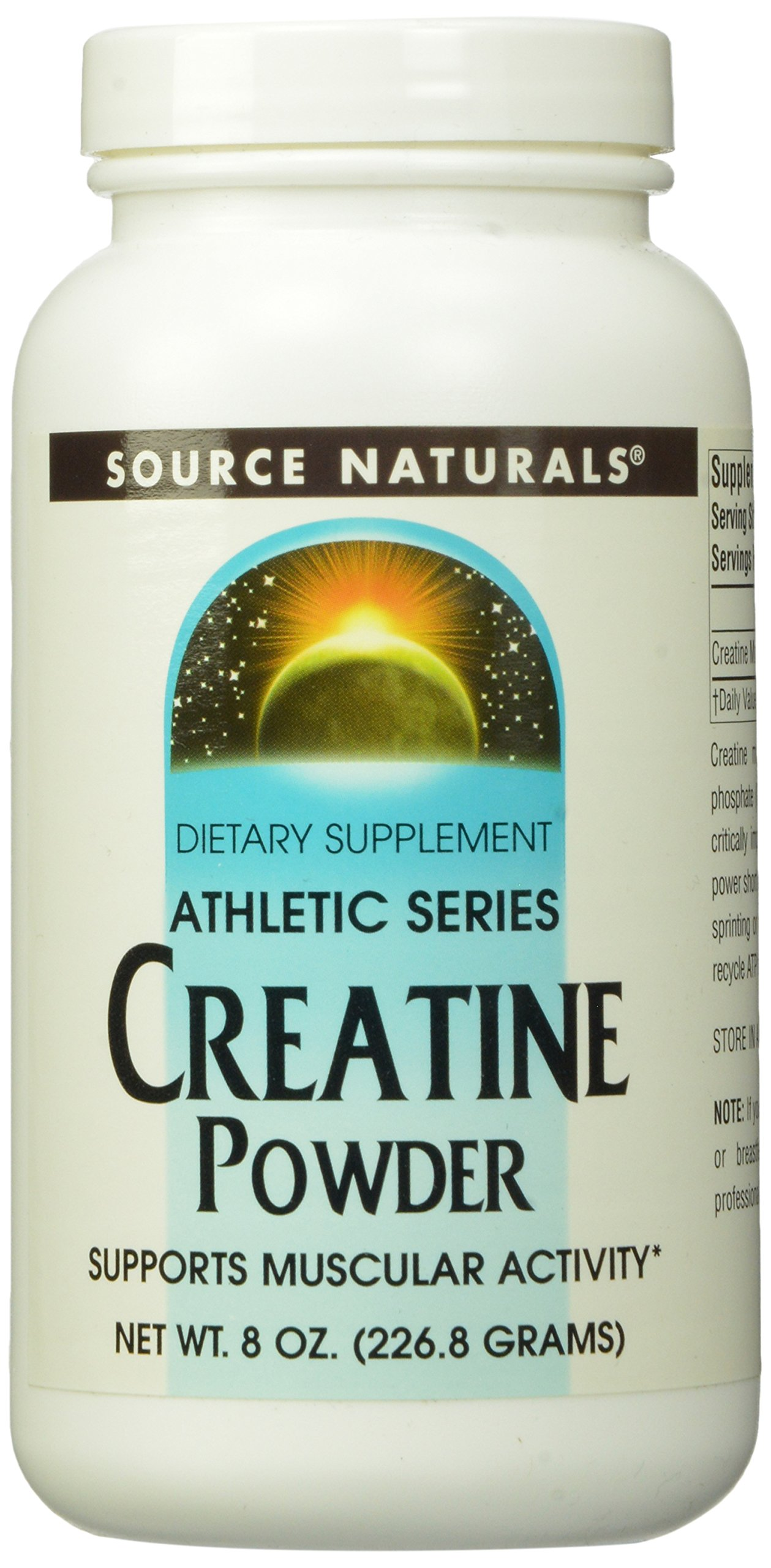 Source Naturals Creatine, Athletic Series Powder, Supports Muscular Activity, 8 Ounces