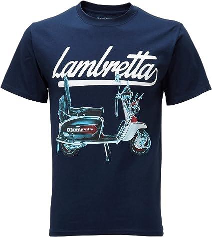 Lambretta Blanc Homme Scooter Imprimé Rétro 100/% coton T shirt...