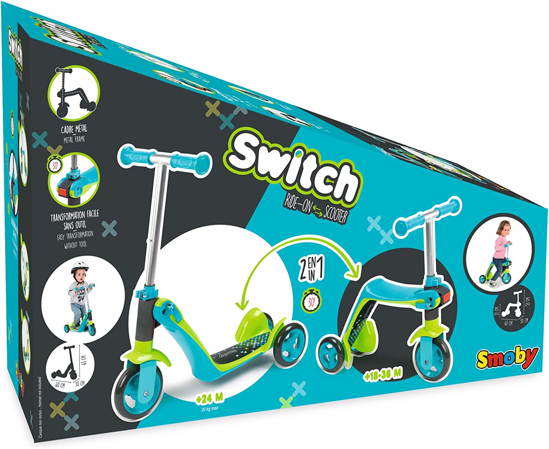 Amazon.com: Smoby - Juguete de patinete reversible 2 en 1 ...