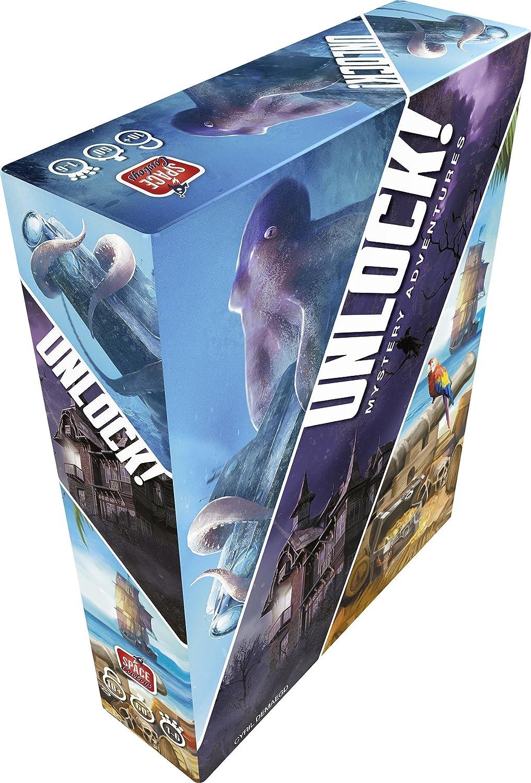 Asmodee SCUNL02FR - Juego de Aventuras Unlock Mystery Adventures: Amazon.es: Juguetes y juegos
