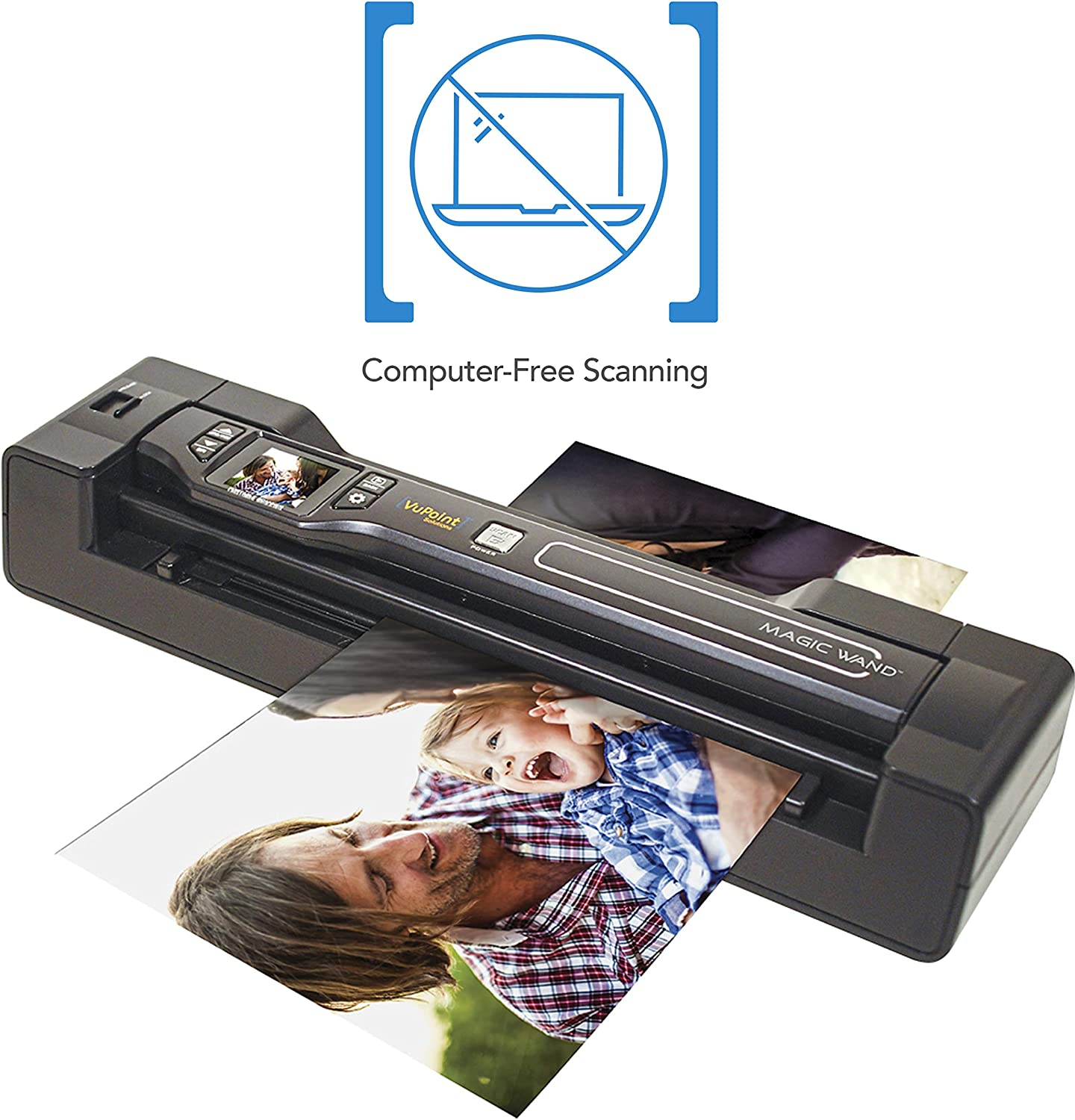 Vupoint ST470 Magic Wand Portable Scanner with Auto-Feed Docking Station 1.5 LCD PDF//JPEG 8gb MicroSD Card Document for Photo 1200dpi Receipt Hard Protective Travel Carrying Case