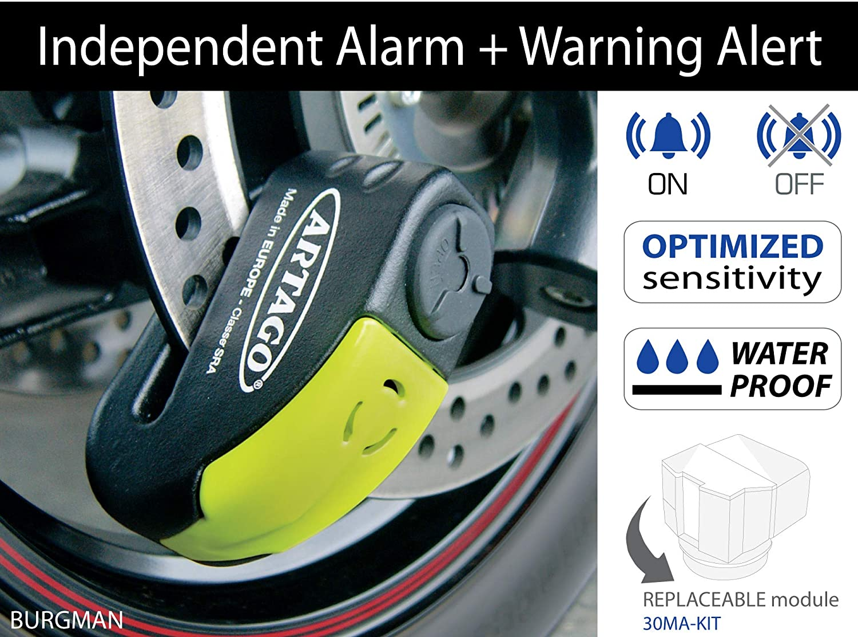 Artago 30X5 Antirrobo Disco Alarma 120 db Alta Gama y ...