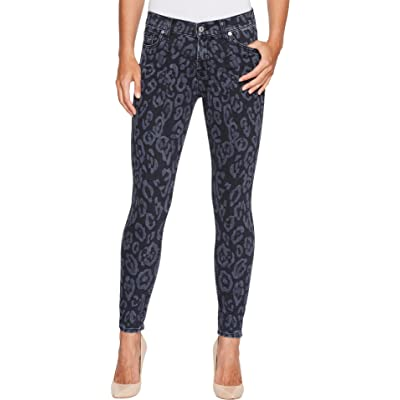 7 For All Mankind Womens The Ankle Skinny In Laser Black Cheetah