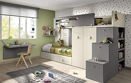 ambiato Kinderzimmer Vita 56, für 2 Kinder, viel Staurraum ...