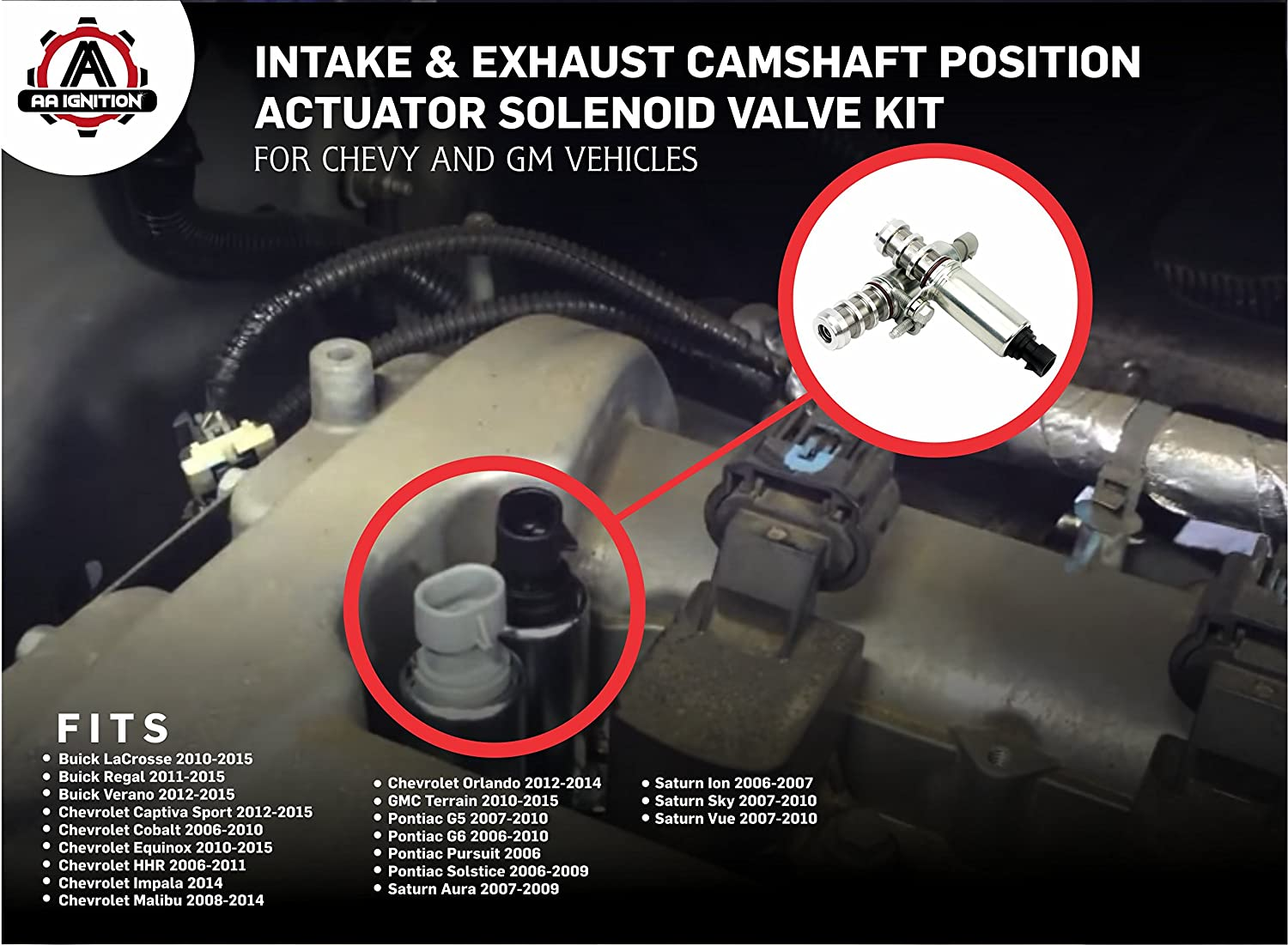 Intake Exhaust Camshaft Position Actuator Solenoid 2006 Cobalt Fuel Filter Location Valve Kit Replaces 12655421 12655420 Fits Chevy Hhr Malibu Equinox