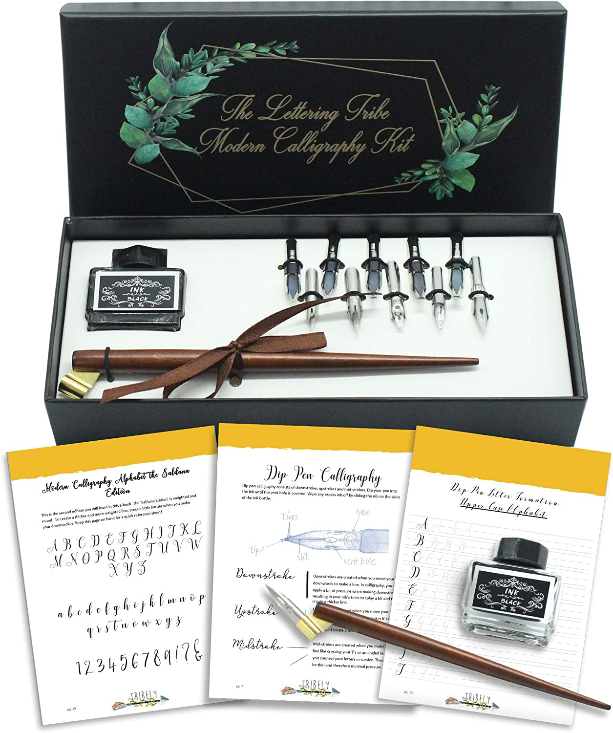 Calligraphy Starter Kit Complete Oblique Pointed Pen Calligraphy Gift Set Learn Modern Dip Pen Calligraphy