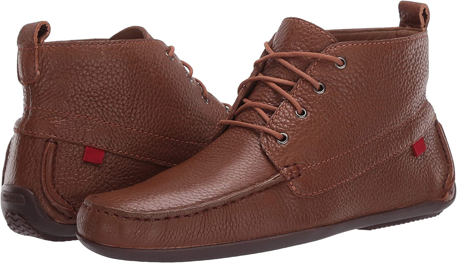 MARC JOSEPH NEW YORK Mens Leather Luxury Driving Style Ankle Boot with Laces