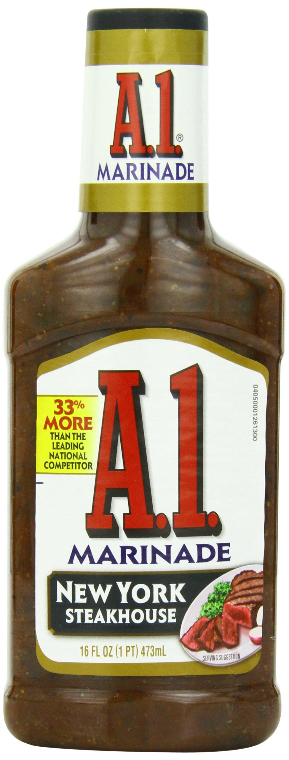 A.1. Steak House Marinade, New York, 16-Ounce Bottles (Pack of 6)