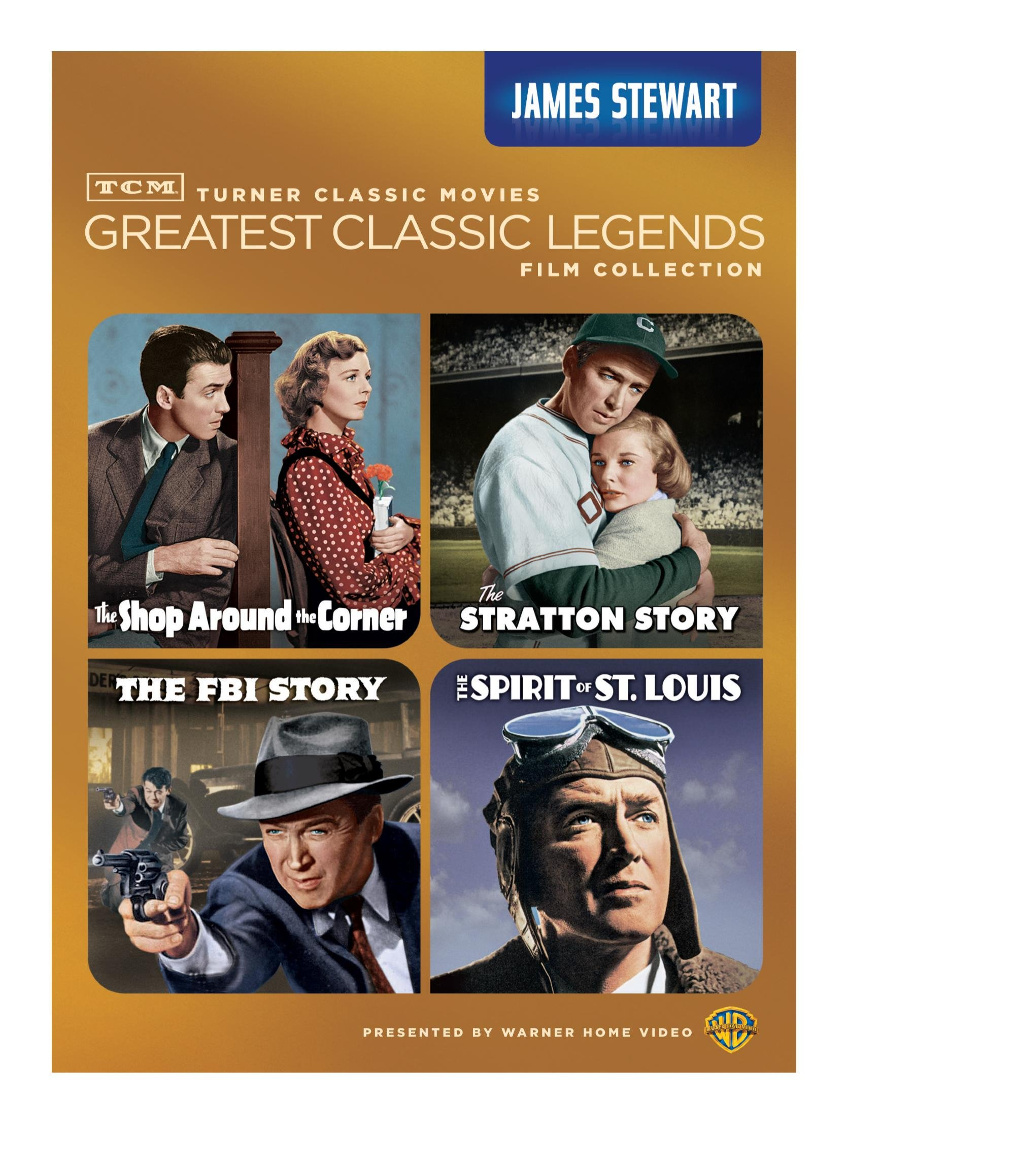 TCM Greatest Classic Legends: James Stewart (The Shop Around the Corner / The Stratton Story / The FBI Story / The Spirit of St. Louis) by Warner Home Video