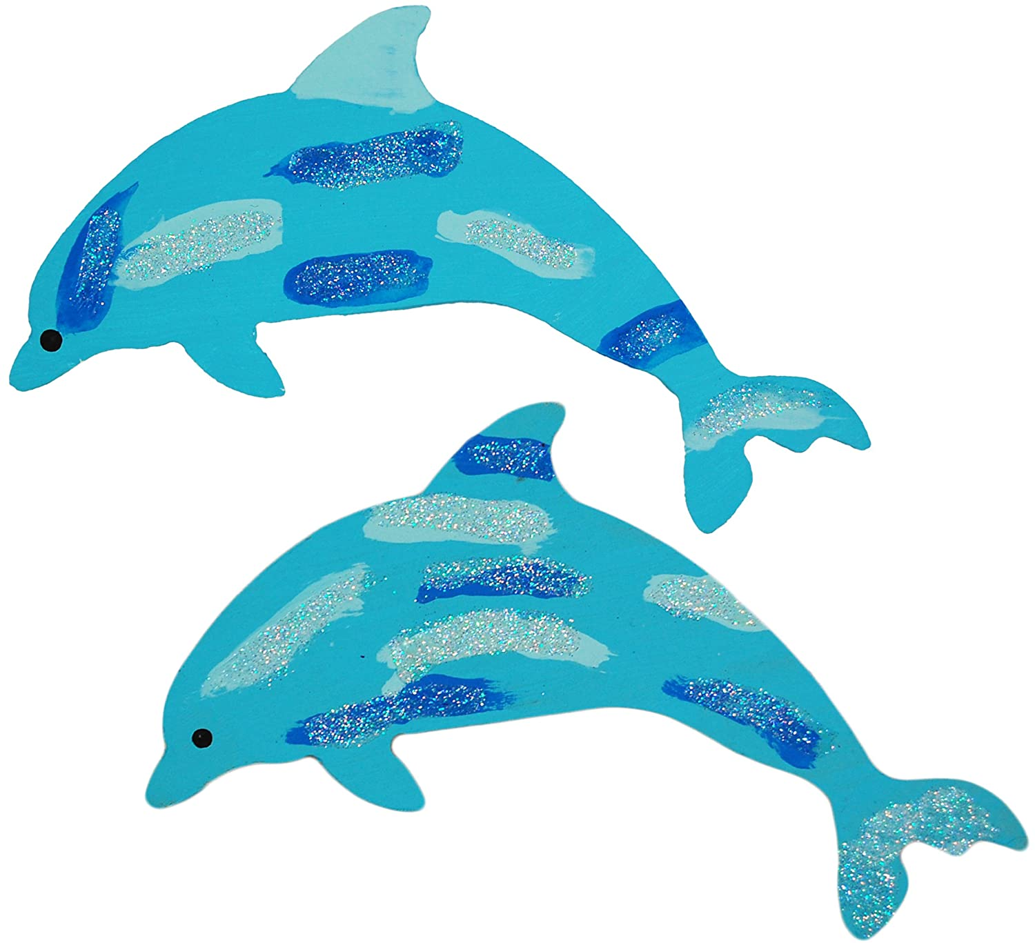 Wooden MDF Dolphin Shape Embellishment Decoration Shapes Dolphins Plaques