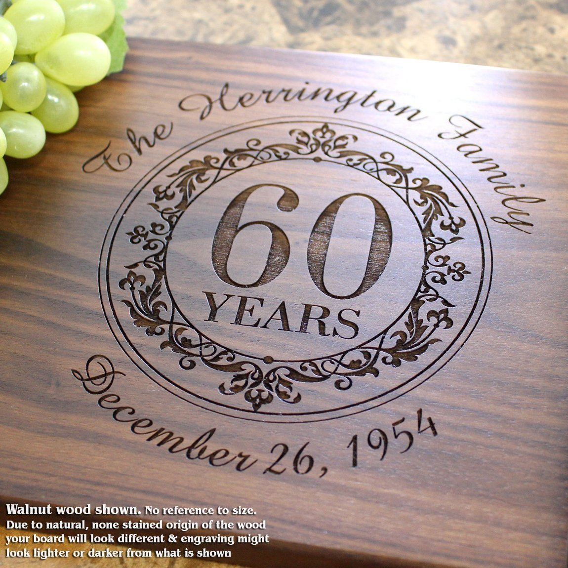 Personalized Cutting Board, Custom Keepsake, Engraved Serving Cheese Plate, Anniversary, Housewarming, Birthday, Corporate, Closing Gift #011