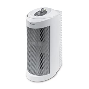 Holmes True HEPA Allergen Remover Mini Tower Air Purifier for Small Spaces, White